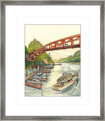 Rainbow Bridge La Connor W A Framed Print by Jack Pumphrey