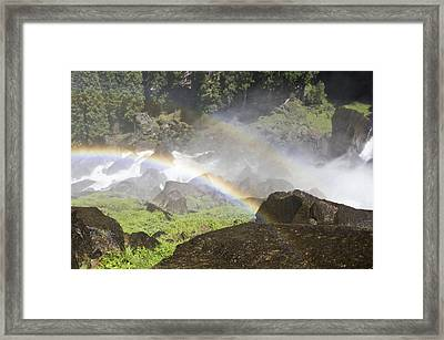 Rainbow Twins Framed Print