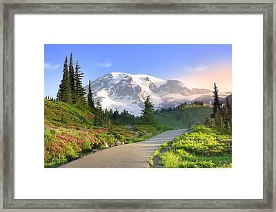 Rainier National Park Framed Print by King Wu