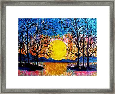 Raining Sunset Framed Print
