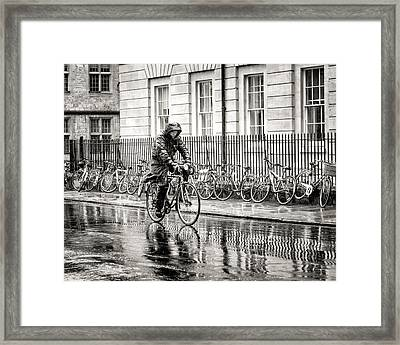 Rainy Day Ride Framed Print
