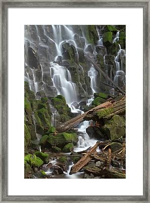 Ramona Falls In Clackamas County, Oregon Framed Print by William Sutton