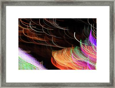 Random Light Trails As Abstract Art Framed Print