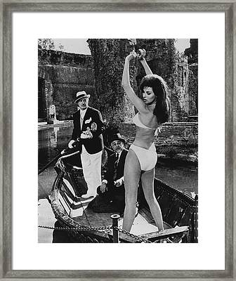 Raquel Welch Framed Print by Retro Images Archive