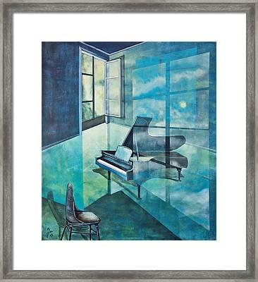 Raumirritation 19 Framed Print by Gertrude Scheffler
