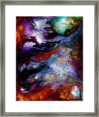 Reaching For Earth Framed Print