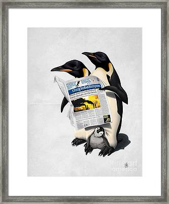 Framed Print featuring the drawing Read All Over Wordless by Rob Snow