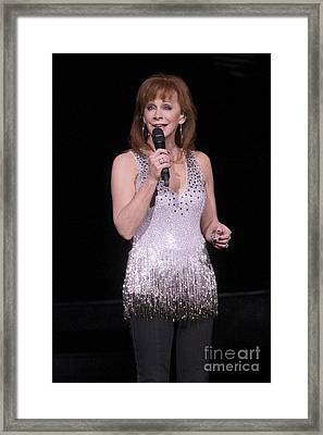 Reba Mcentire Framed Print by Concert Photos