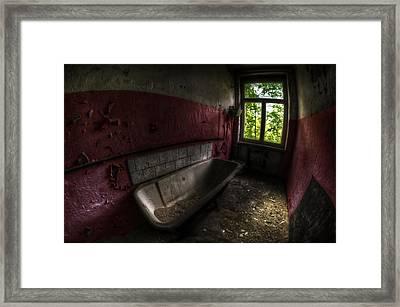 Red Bathroom Framed Print