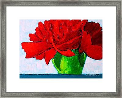 Red Carnation Framed Print by Ana Maria Edulescu