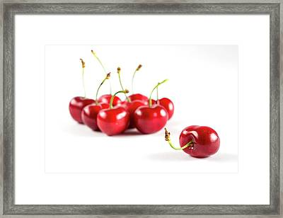 Red Cherries Framed Print by Aberration Films Ltd