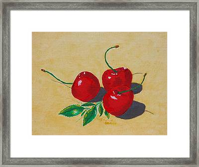 Red Cherries Framed Print