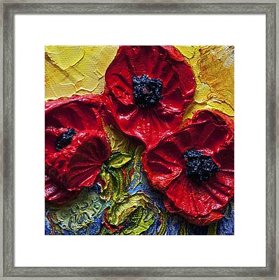 Red Poppies Framed Print by Paris Wyatt Llanso