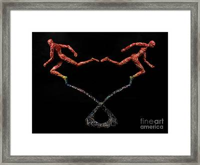 Red Shift A Science Sculpture By Adam Long Framed Print by Adam Long