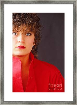 Framed Print featuring the photograph Red by Steven Macanka