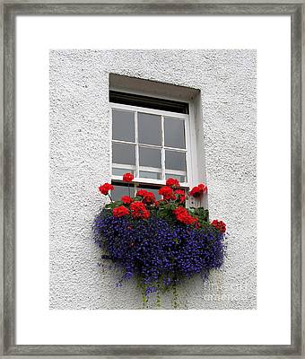 Red White And Blue Framed Print by Mel Steinhauer