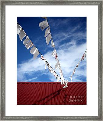 Red White Blue Framed Print