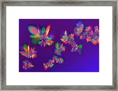 Red Wine Microcrystals Framed Print