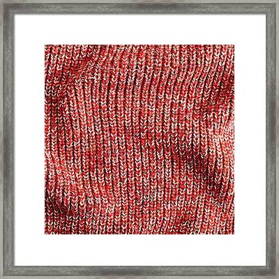 Red Wool Framed Print by Tom Gowanlock