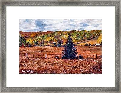 Redbridge Framed Print by Wanda Kightley