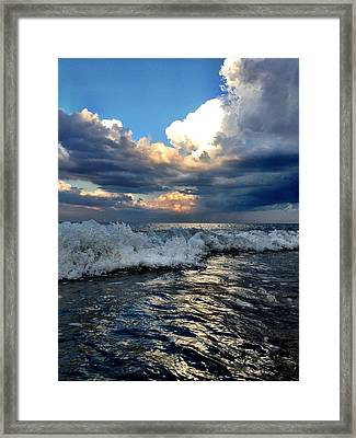 Reflecting Framed Print by Eugene Bergeron