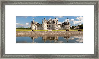 Reflection Of A Castle In A River Framed Print by Panoramic Images