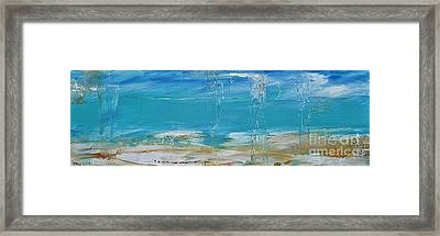 Framed Print featuring the painting Reflections by Diana Bursztein