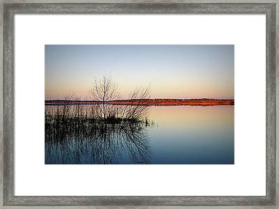 Reflections On Lake Jackson Tallahassee Framed Print