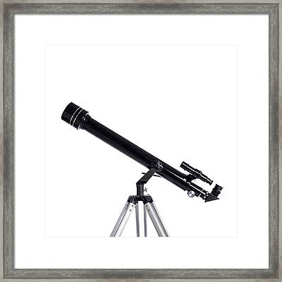 Refracting Telescope Framed Print by Science Photo Library