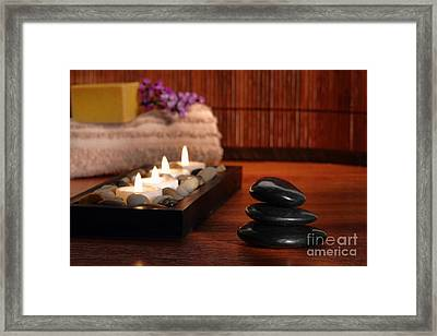 Relaxation Framed Print by Olivier Le Queinec