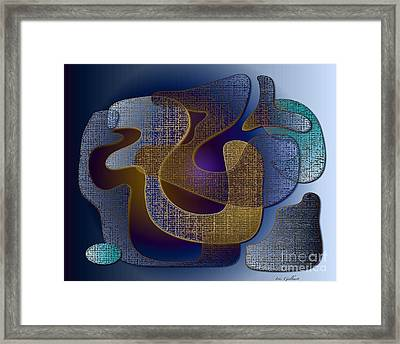 Framed Print featuring the digital art Relaxing Shapes by Iris Gelbart
