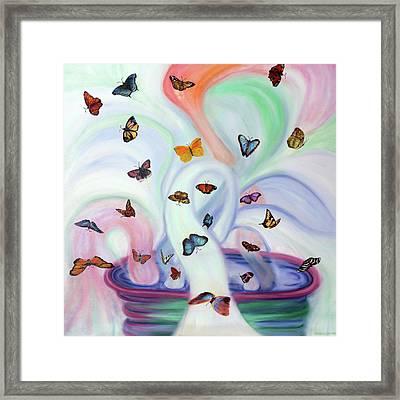 Releasing Butterflies Framed Print