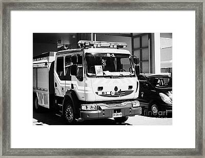 Renault Fire Trucks Tenders Constitucion Fire Station Chile Framed Print by Joe Fox