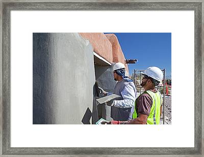 Repairing White Sands Visitor Centre Framed Print by Jim West