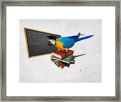 Framed Print featuring the drawing Repeat Wordless by Rob Snow