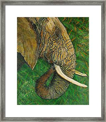 Framed Print featuring the painting Respect by Debbie Chamberlin