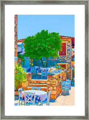 Colourful Restaurant Framed Print