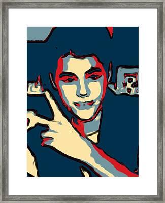 Retrato A Justin Bieber Framed Print by Don Mario Ramirez Centeno