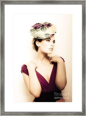Retro Fashion Framed Print by Jorgo Photography - Wall Art Gallery