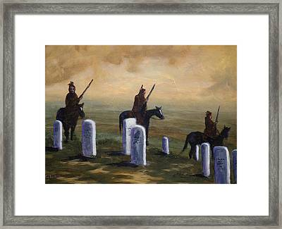 Return To Little Bighorn  Framed Print