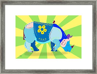 Rhino Framed Print by Mark Ashkenazi