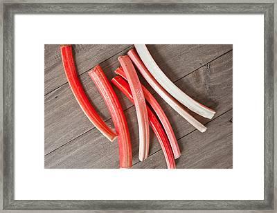 Rhubarb Framed Print