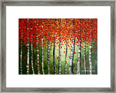 Rich Trees Framed Print by Denisa Laura Doltu
