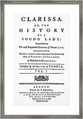 Richardson Clarissa Framed Print