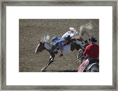 Ride Em Cowboy Framed Print by Jeff Swan