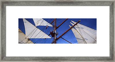 Rigging Of A Tall Ship, Finistere Framed Print