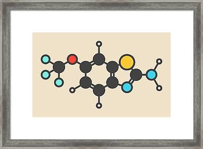 Riluzole Als Drug Molecule Framed Print