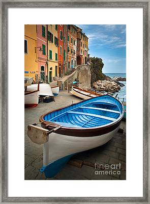 Rio Maggiore Boat Framed Print by Inge Johnsson
