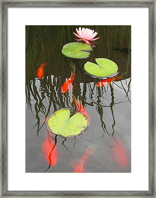 Rippled Reeds Framed Print