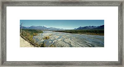 River Passing Through Mountains Framed Print by Panoramic Images